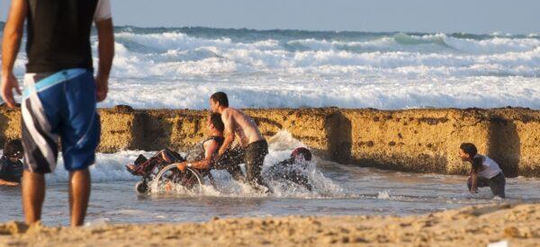 wheelchair beach care support